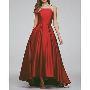 David's Bridal High Neck Satin Ball Gown Size 4